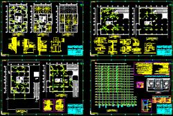 نقشه تاسیسات مکانیک مجتمع 75 واحدی 16 طبقه کامل